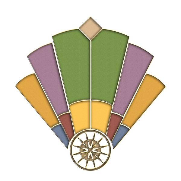 Digital Art - Art Deco Fan 2 Transparent by Chuck Staley
