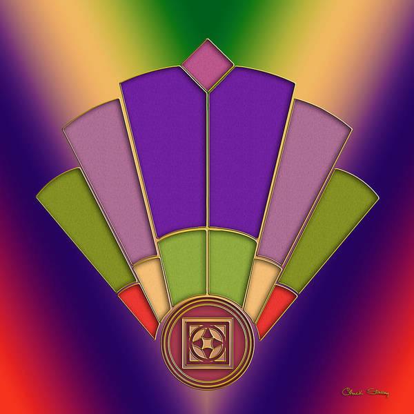 Digital Art - Art Deco Fan 3 by Chuck Staley