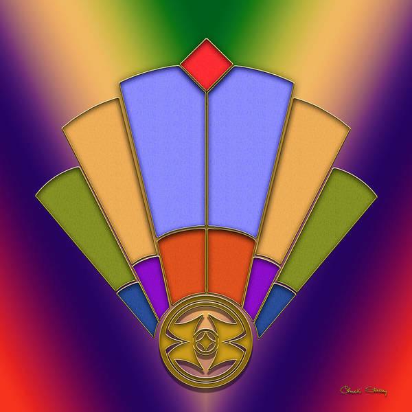 Digital Art - Art Deco Fan 4 by Chuck Staley