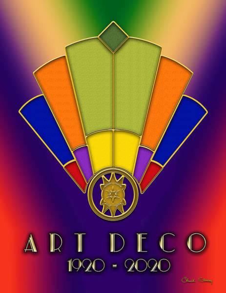 Digital Art - Art Deco Fan 6 Titled by Chuck Staley