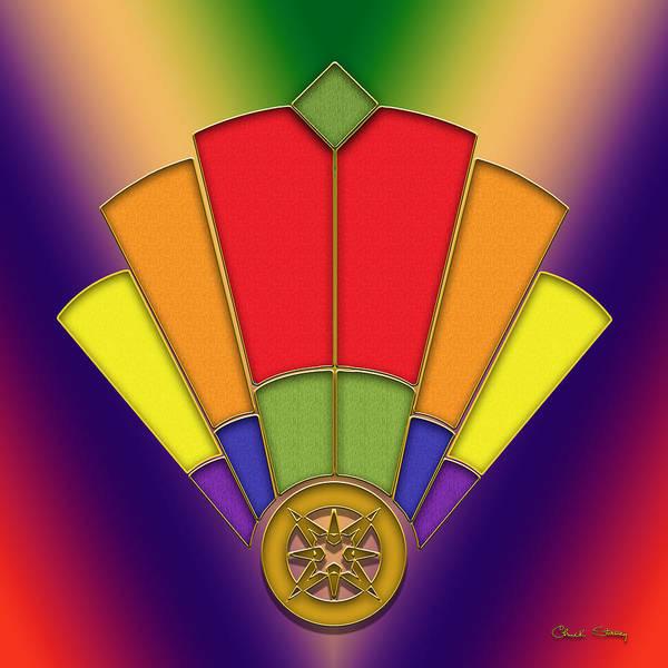Digital Art - Art Deco Fan 7 by Chuck Staley