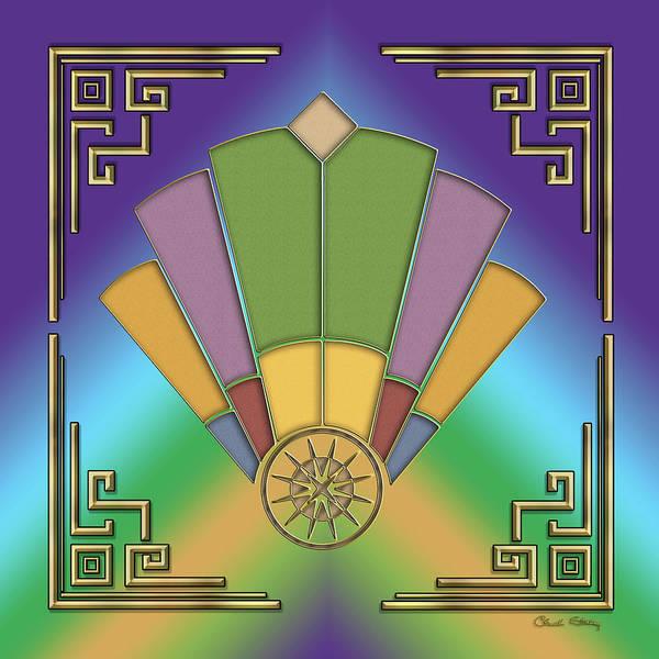 Digital Art - Art Deco Fan 2 - Frame 2 by Chuck Staley
