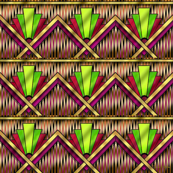 Digital Art - Art Deco Multiview 13 by Chuck Staley