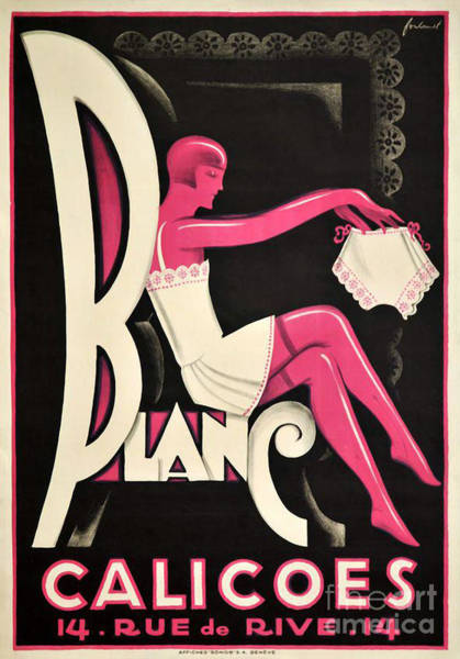 Wall Art - Painting - Art Deco Paris Lingerie Ad by Mindy Sommers