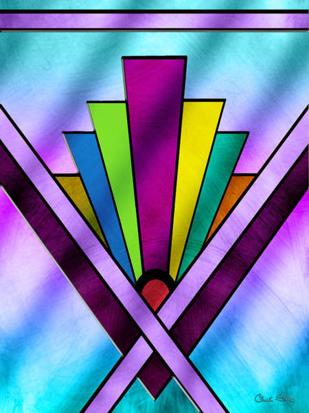 Digital Art - Art Deco Pattern 10 V by Chuck Staley
