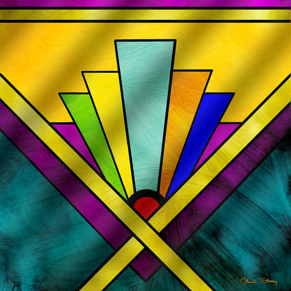 Digital Art - Art Deco Pattern 8 by Chuck Staley