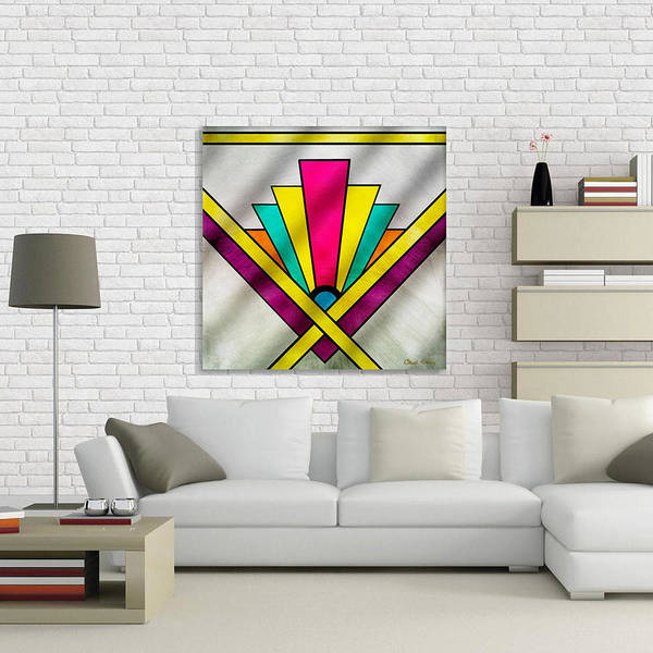 Digital Art - Art Deco Pattern 9 Canvas by Chuck Staley