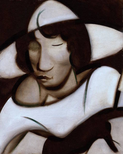 Wall Art - Painting - Art Deco Woman Smoking by Tommervik