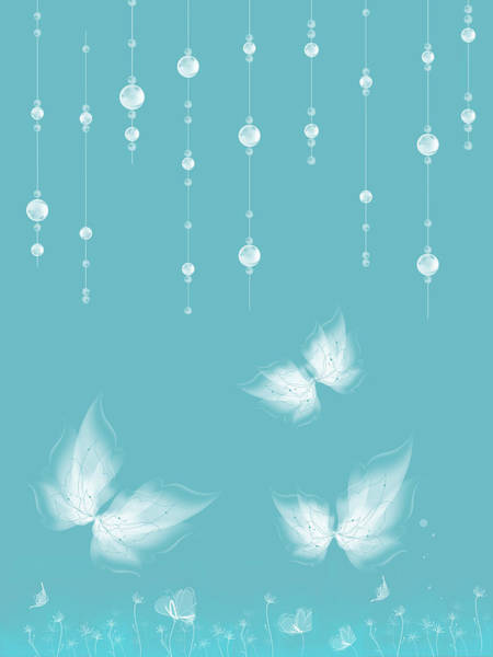 White Butterfly Digital Art - Art En Blanc - S11a by Variance Collections
