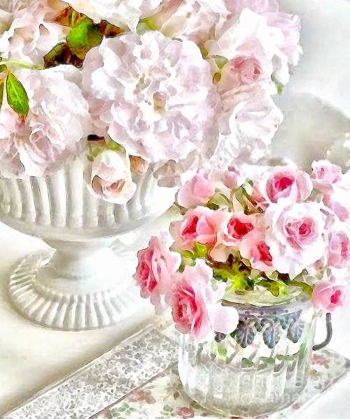 Painting - Art Floral Bouquet Table Setting by Catherine Lott