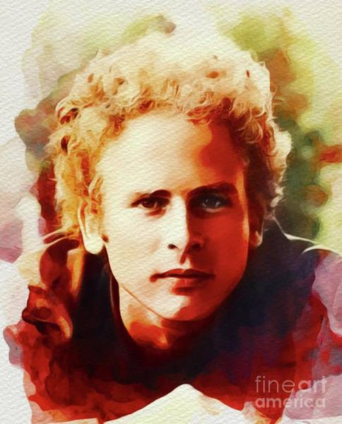 Wall Art - Painting - Art Garfunkel, Music Legend by John Springfield