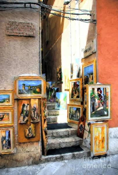 Photograph - Art In Taormina by Mel Steinhauer