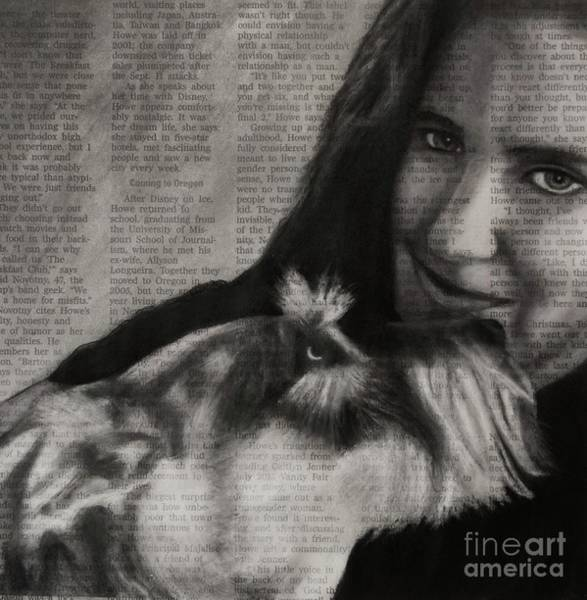 Drawing - Art In The News 137-rocky And Dori by Michael Cross
