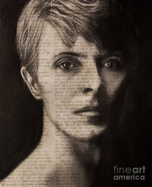 Photograph - Art In The News 78-bowie by Michael Cross