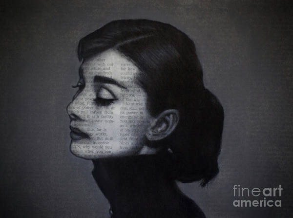 Drawing - Art In The News 98-audrey Hepburn by Michael Cross