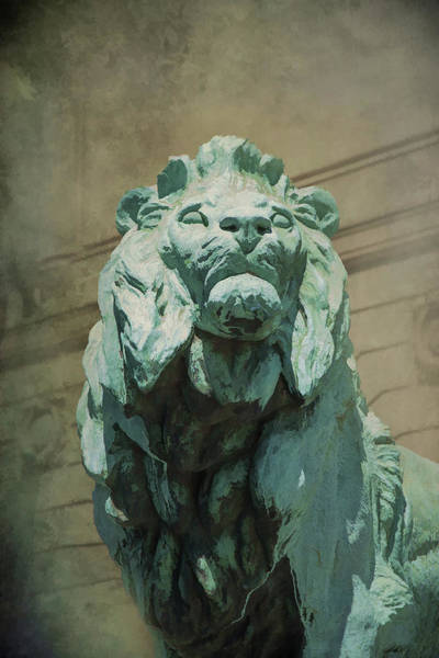 Photograph - Art Institute Of Chicago Lion by Jemmy Archer