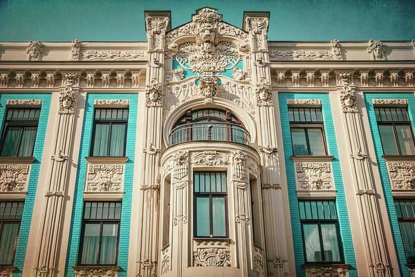 Nouveau Photograph - Art Nouveau Architecture In Riga Latvia by Carol Japp