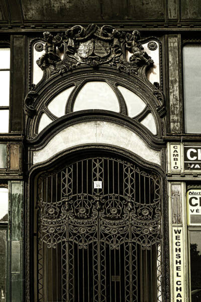 Photograph - Art Nouveau Door Budapest by Sharon Popek