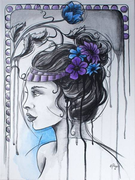 Painting - Art Nouveau Girl 1 by Emily Page