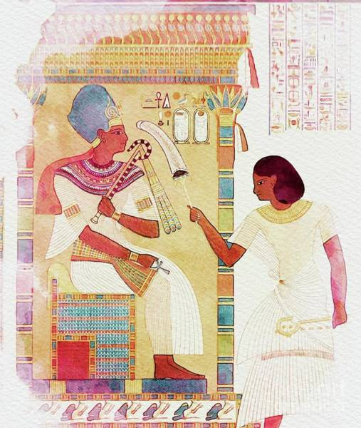 Wall Art - Painting - Art Of Ancient Egypt by Sarah Kirk