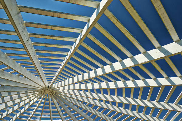 Photograph - Art Of The Gazebo Roof by Gary Slawsky