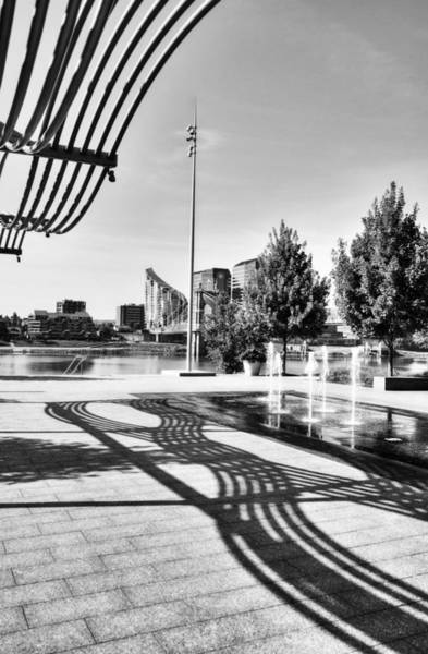 Photograph - Art On The Ohio River Bw by Mel Steinhauer