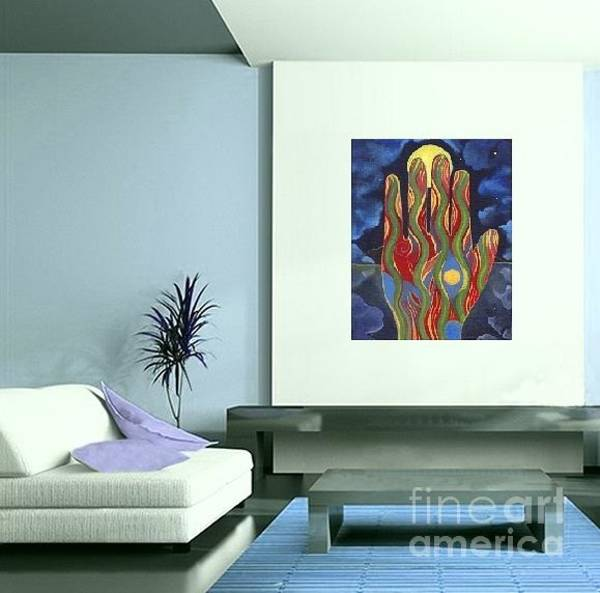 Digital Art - Art On The Wall - May Nature Support You  by Helena Tiainen