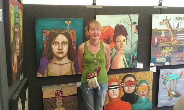 Painting - Art Show June 2016 Pic 2 by Leah Saulnier The Painting Maniac