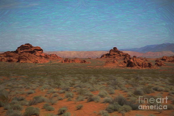 Valley Of Fire State Park Digital Art - Art Valley Of Fire  by Chuck Kuhn