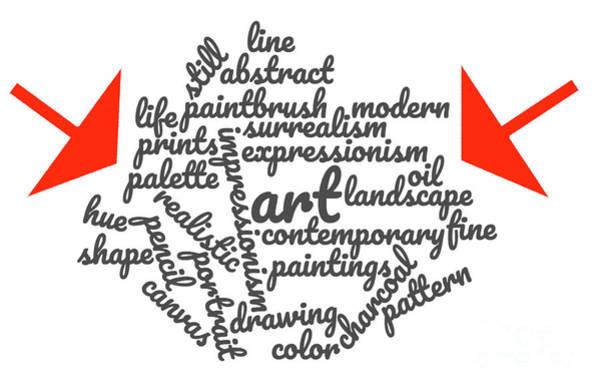 Wall Art - Digital Art - Art Word Cloud 1 by Karen Francis