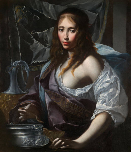 Wall Art - Painting - Artemisia Prepares To Drink The Ashes Of Her Husband Mausolus    by Mountain Dreams