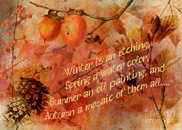 Digital Art - Artful Autumn 2016 by Kathryn Strick