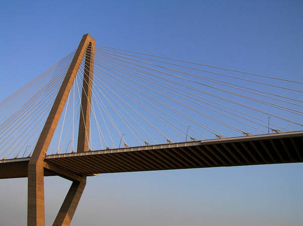 Cable-stayed Bridge Photograph - Arther Ravanel Jr. Bridge by Dustin K Ryan
