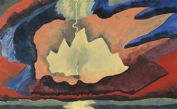 Spectacular Painting - Arthur Garfield Dove Thunder Shower by Wassily Kandinsky