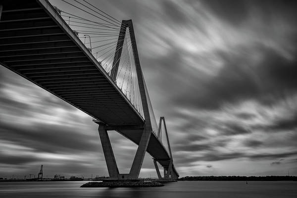 Cable-stayed Bridge Photograph - Arthur Ravenel Bridge by Rick Berk