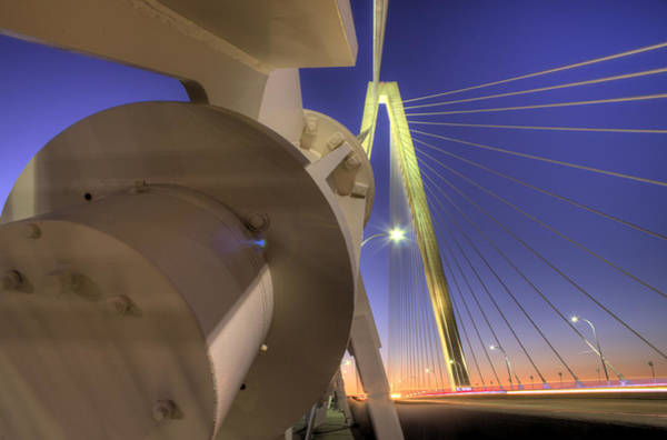 Cable-stayed Bridge Photograph - Arthur Ravenel Jr. Bridge Charleston Sc by Dustin K Ryan