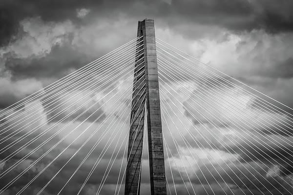 Photograph - Arthur Ravenel Jr. Bridge Detail by Robert Mitchell
