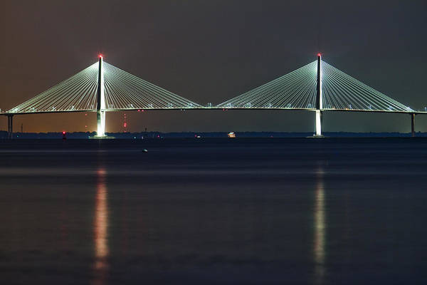 Cable-stayed Bridge Photograph - Arthur Ravenel Jr. Bridge II by Dustin K Ryan