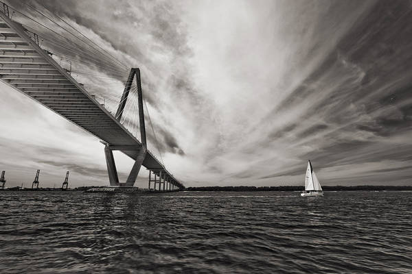 Arthur Ravenel Jr. Bridge Over The Cooper River Art Print