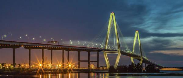 Photograph - Arthur Ravenel Jr. Bridge Panoramic by Donnie Whitaker