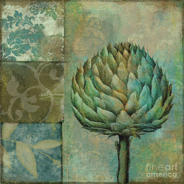 Vegan Painting - Artichoke Margaux by Mindy Sommers
