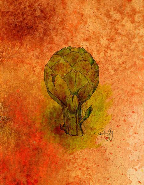 Mixed Media - Artichoke by Paul Gaj