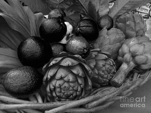 Photograph - Artichokes With Black Lemons And Oranges by James B Toy