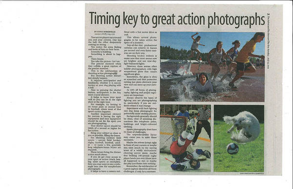 Photograph - Article On Action Photography by Steve Somerville