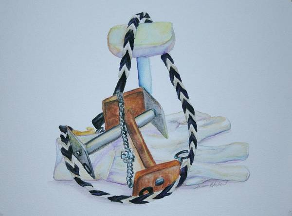 Leash Painting - Article Pile by Susan Herber