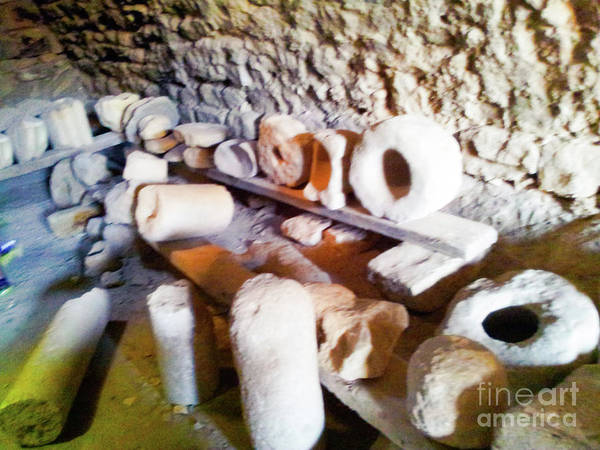 Photograph - Artifacts Crusader Castle by Donna L Munro