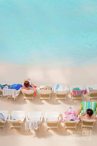 Laying Photograph - Artificial Beach by Delphimages Photo Creations