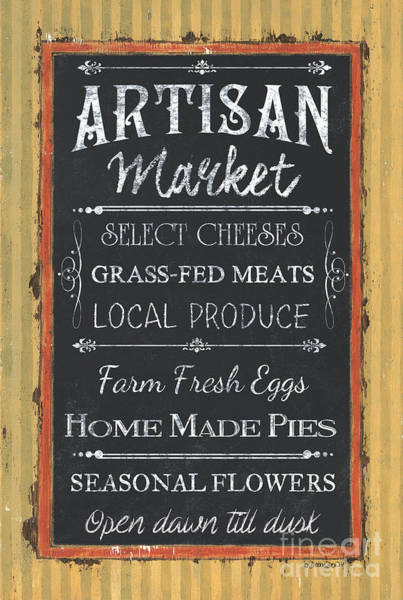 Bakery Painting - Artisan Market Sign by Debbie DeWitt