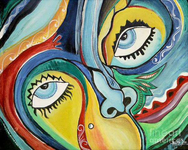 Entangled Painting - Artist by Amrita Das
