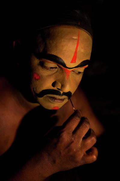 Photograph - Artist Getting Makeup by Mahesh Balasubramanian